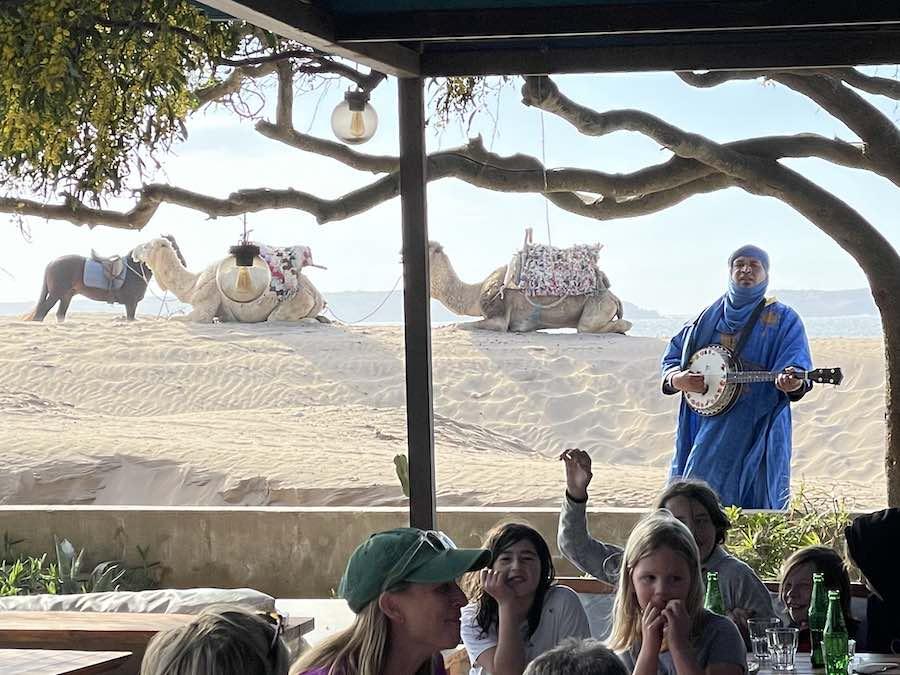 Essaouira Beach Dining Morocco