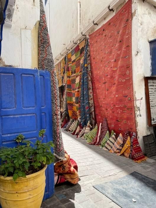 Essaouira rug alley, Morocco